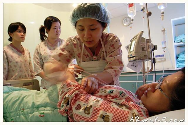 雅婷與實習護士